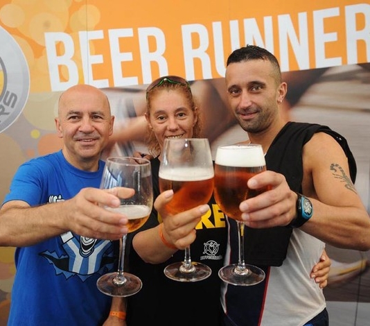 Beer and running, the good allies