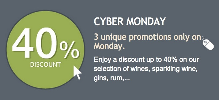 After Black Friday… are you ready for Cyber Monday? Enjoy your shopping at Uvinum!
