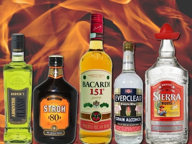 What are the 6 drinks with higher alcohol content?
