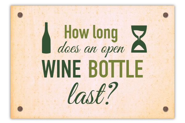 How long does an open wine bottle last?