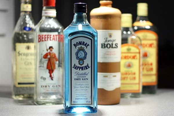 Famous brands of gin