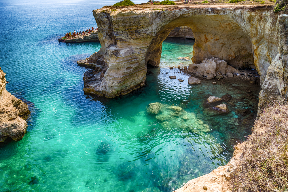 Puglia is surrounded by 400 miles of breathtaking coastline.