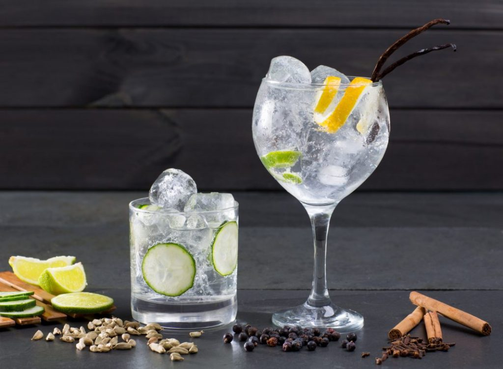 G&T with gin botanicals