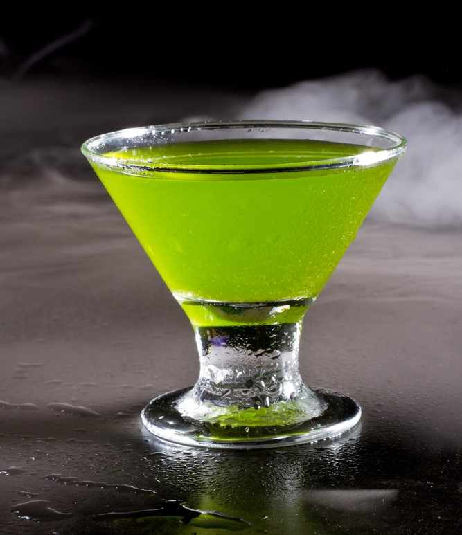 Green tropical cocktail
