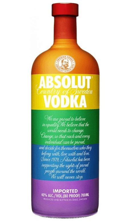 Absolut vodka colours - one of the gayest drinks brands out there