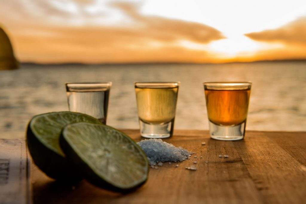 three different types of tequila