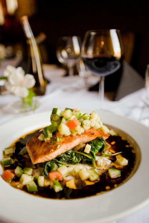 Pinot noir food pairing with salmon